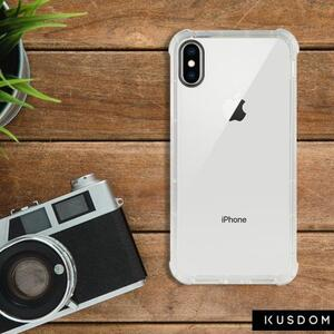 iPhone Xs Clear Bumper Case(Black aperture )