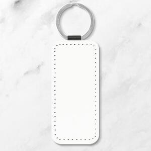 Leather Rectangle Keychain