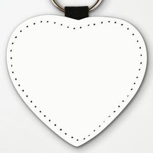 心形皮鑰匙圈