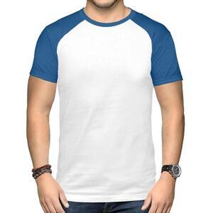 男装棉质插肩圆领T恤