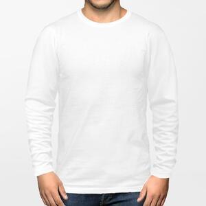 男裝棉質圓領長袖T恤