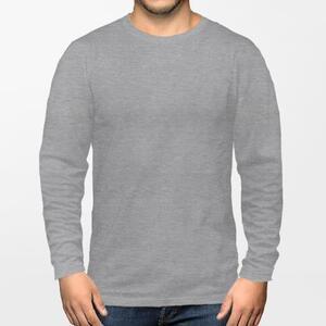 男装棉质圆领长袖T恤