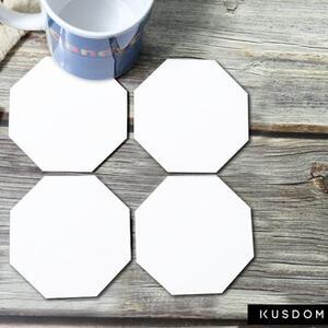 八角形水松木杯垫 (4件装)