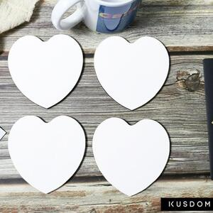 Heart Shaped Cork Coasters (4Pcs)