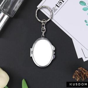 鵝蛋形匙扣鏡盒