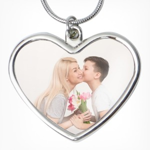 DIY Photos Heart Shaped Necklace