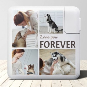 Pet Photo 6700mAh Power Bank (Dual-use of Wired and Wireless Charging)