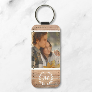 Personalized Leather Keychain - Rectangle