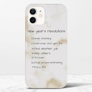 Custom Text iPhone 12 Glossy Case