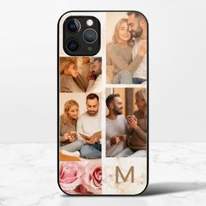 写真ステッカーiphone 12 pro maxの強化ガラスケース