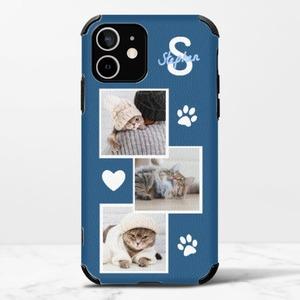 iPhone 12 mini 가죽 실리콘 케이스