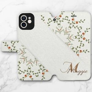 Monogram iPhone 12 mini Leather Clamshell Case