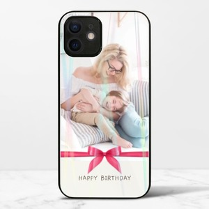 iphone 12 miniオーロラ強化ガラスケース