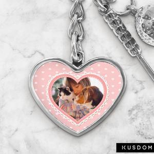 Custom Golf Keychain - Heart