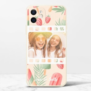カスタマイズiPhone 12のシリコンスマホケース