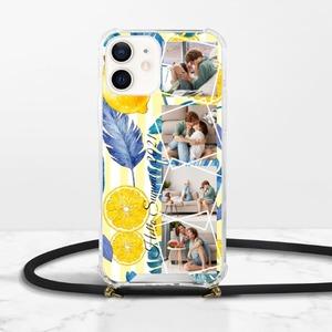 つづりiPhone 12 Mini Clear Acrylic Hard Case with Lanyard