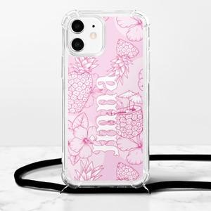 Custom Name iPhone 12 Clear TPU Soft Case with Lanyard