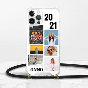 照片貼圖iPhone 12 Pro Max 掛繩透明硬殼