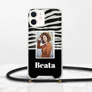 カスタム写真iPhone 12 Mini Clear Acrylic Hard Case with Lanyard