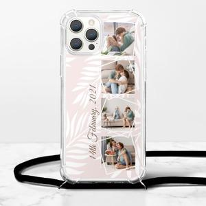 拼畫iPhone 12 Pro Max 掛繩透明軟殼