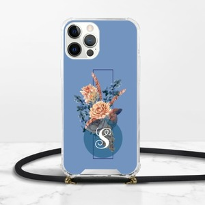 Monogram iPhone 12 Pro Clear Acrylic Hard Case with Lanyard