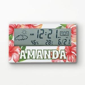 Custom Name Digital Alarm Clock with Calendar