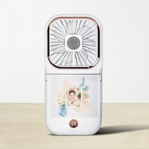 Your Photos Foldable Fan with Power Bank & Phone Holder