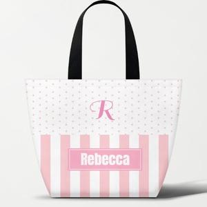 Name Monogram Thermal Insulation Lunch Box Handbag