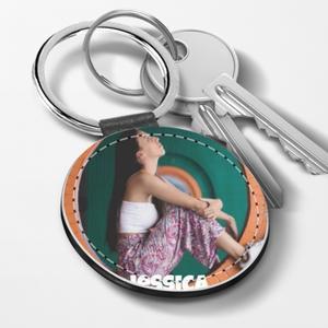 Leather Keychain - Round
