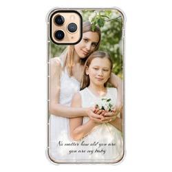 iPhone 11 Pro Max Clear Bumper Case(Black aperture)