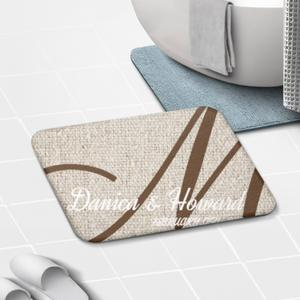 "Name Monogram Carpet 16""X 24"""