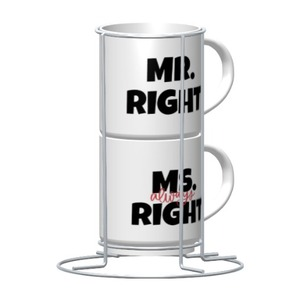 Personalized 2-Cups Set with Metal stand, 9oz