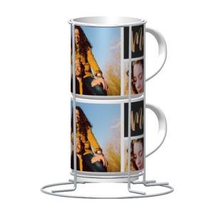 相片模板双层陶瓷叠杯, 9oz