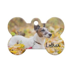 Photo Print Bone Shaped Pet Tag