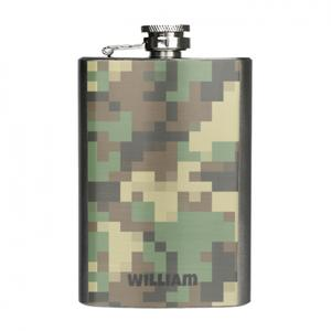 Custom Name Japanese style Stainless Steel Hip Flask, 4oz