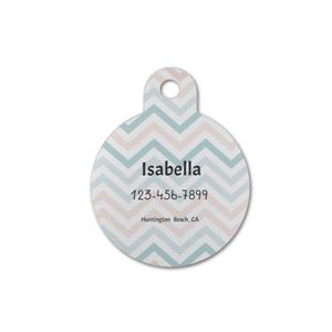 Custom Name Round Pet Tag