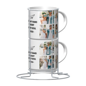 Template 2-Cups Set with Metal stand, 9oz