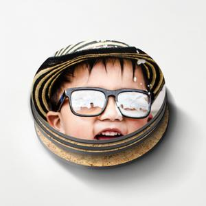 DIY Photos Round Cork Coasters (4Pcs)