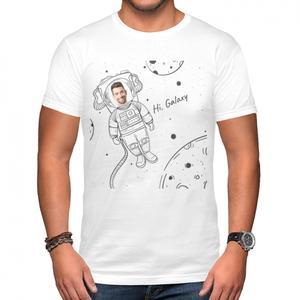 更換相片男裝棉質圓領T恤