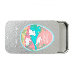 Custom Text Metal Slide Top Tin