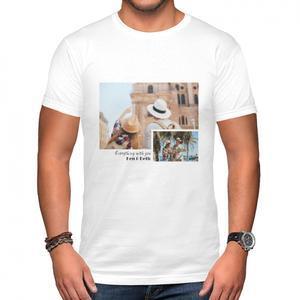 添加照片男裝棉質圓領T恤