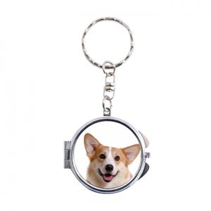 Personalized Photo Compact Keychain Mirror - Round