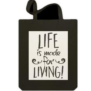Jumbo Tote Bag - Life is make foe Living