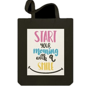 Jumbo Tote Bag - Start your morning with a smile