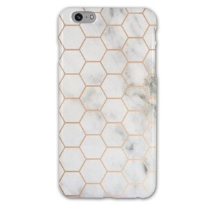 iPhone 6/6s Plus White Marble with Cube Glossy Case