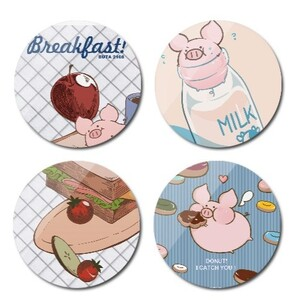 Round Cork Coasters (4Pcs)