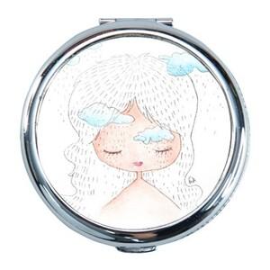 下雨中的女孩(圓形鏡盒(小))