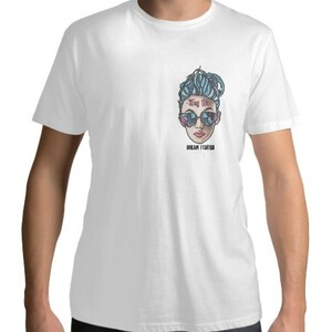 Dream Fighter Thug Life Girl-Men 's Cotton Round Neck T - shirt (White)