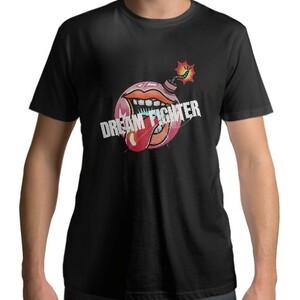 Dream Fighter Bomb-Men 's Cotton Round Neck T - shirt(Black)