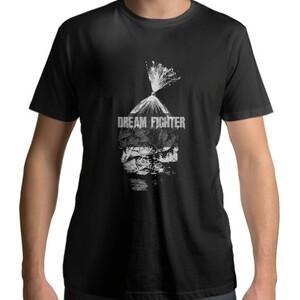 Dream Fighter Dead Fish - Men 's Cotton Round Neck T - shirt (Black)